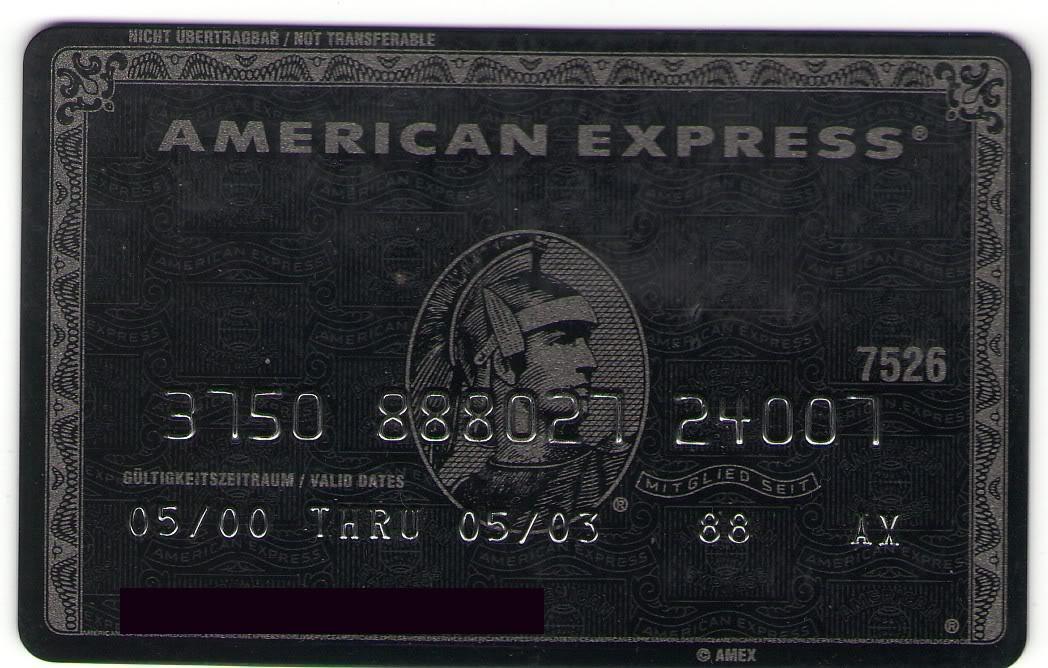 Schwarze American Express